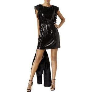 Michael Kors Fully Sequined Ruffle Sleeve Dress